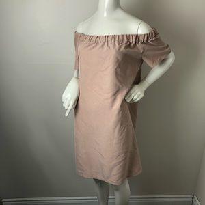 H&M Blush Pink Off the Shoulder Mini Dress 14